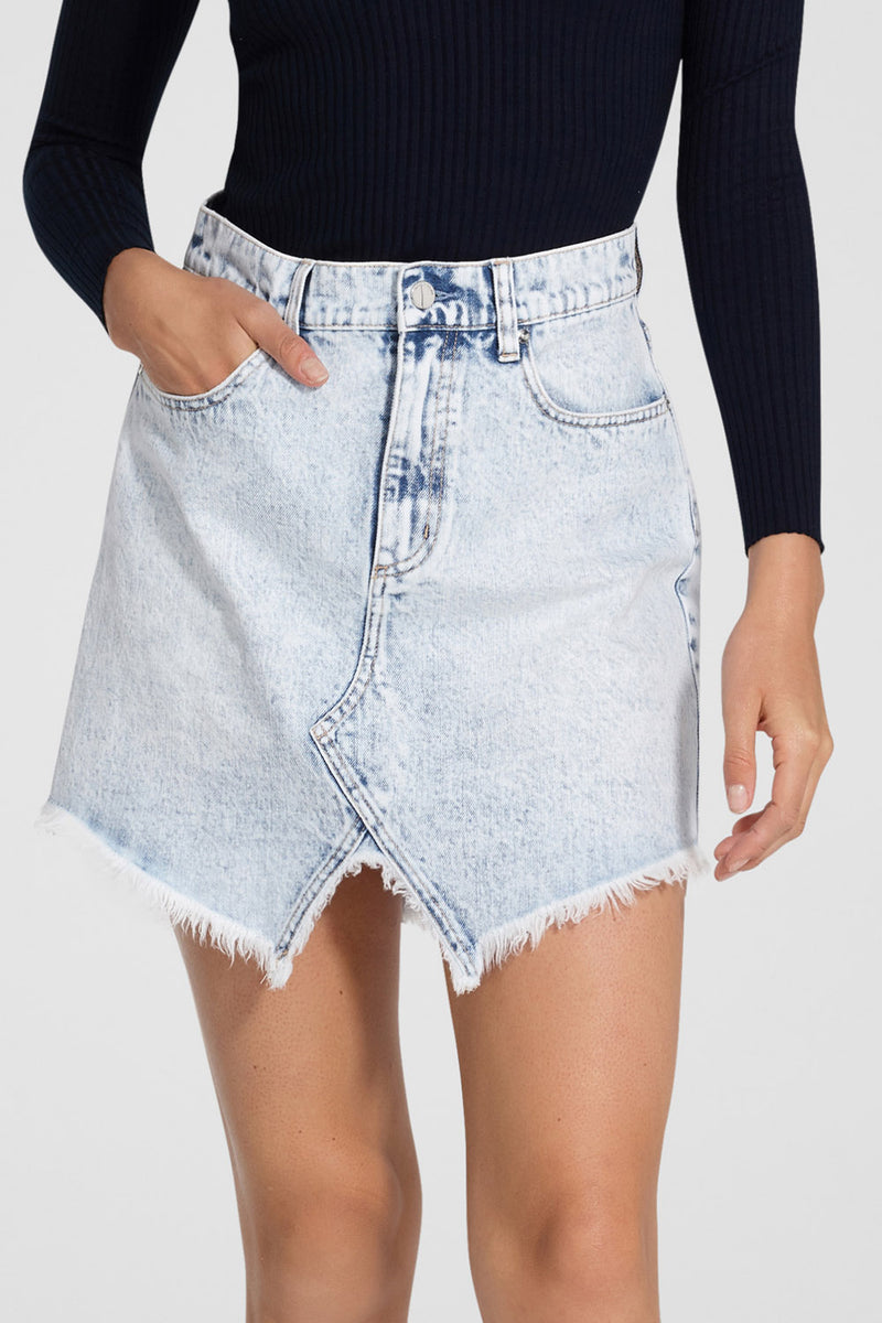 Nobody Denim The Edge Skirt Acid Wash