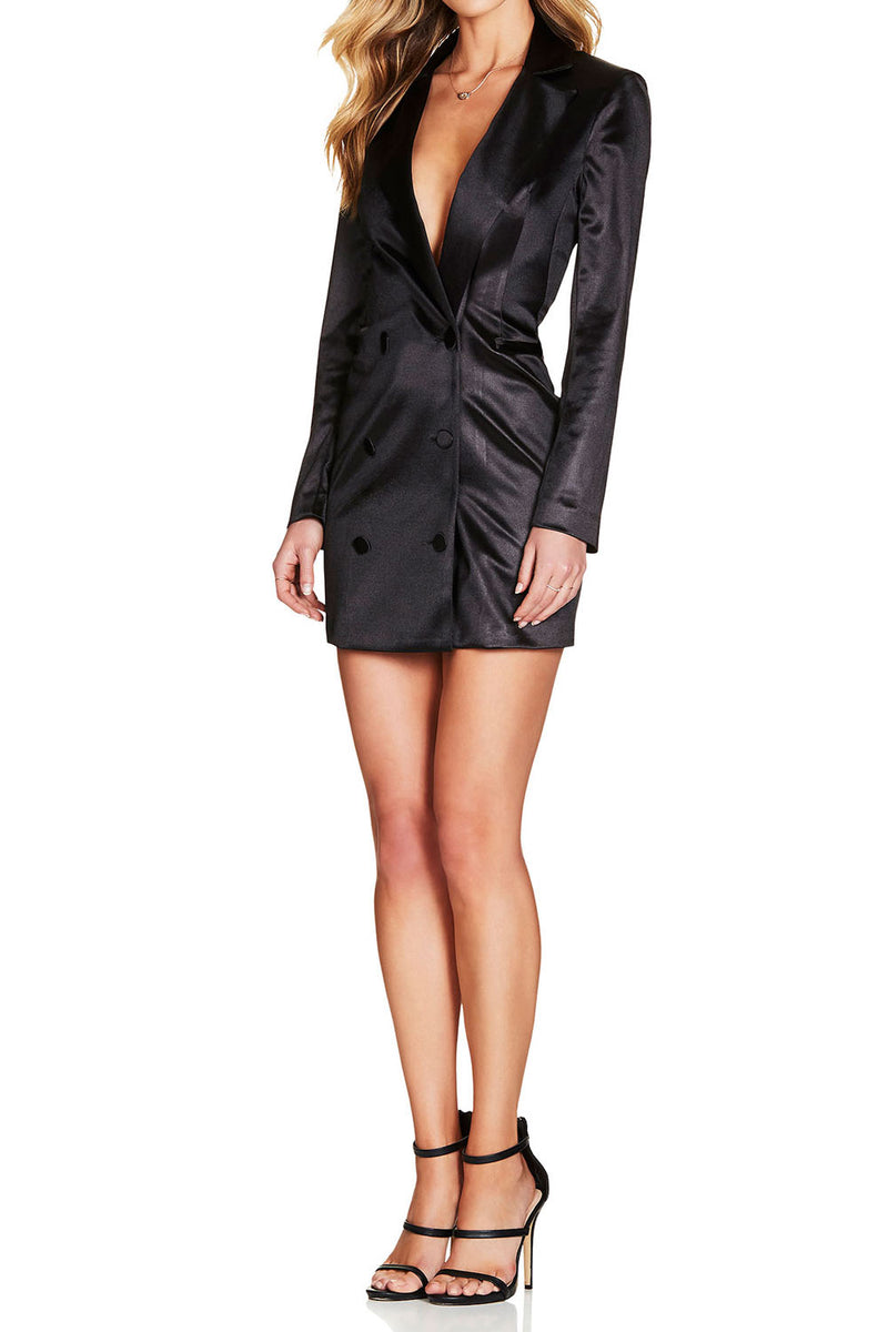 Nookie Slay Blazer Dress Black