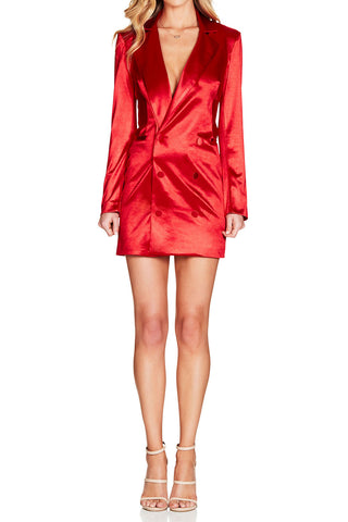 Nookie Slay Blazer Dress Red
