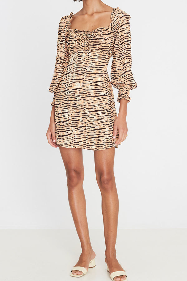 Faithfull Ira Mini Dress Wyldie Animal