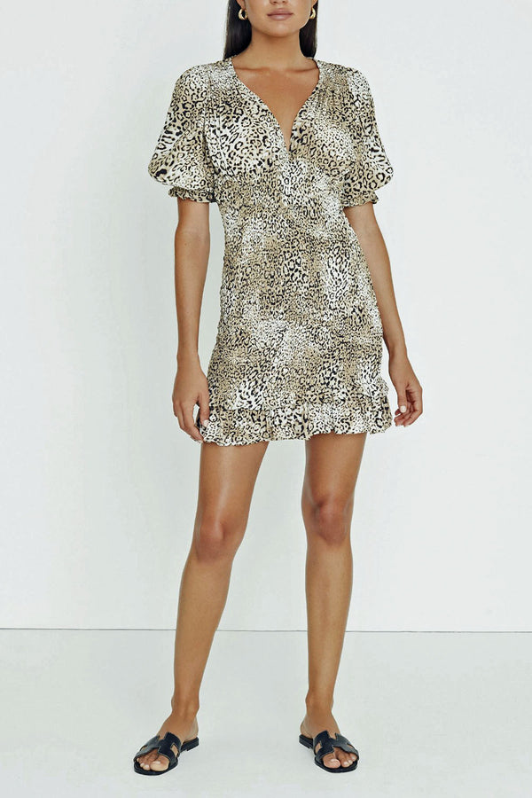 Faithfull Margherita Mini Dress Signe Animal Print