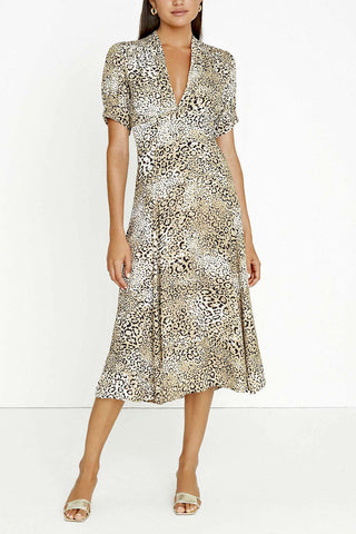 Faithfull Meadows Midi Dress Signe Animal Print