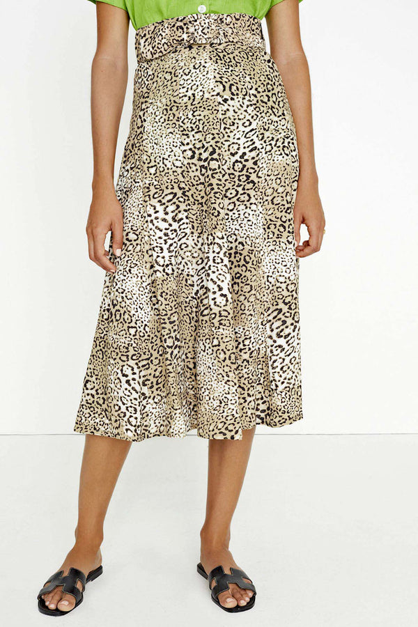 Faithfull Luda Midi Skirt Signe Animal Print