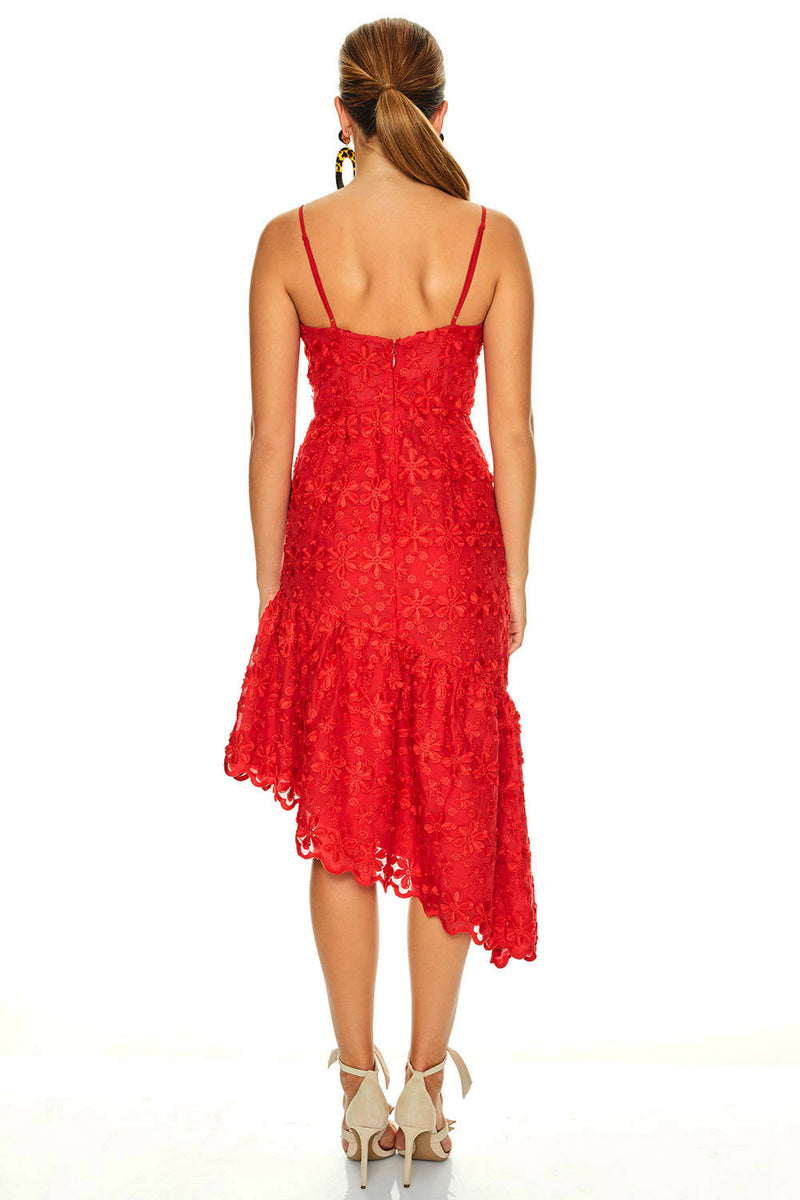 Talulah Limousine Midi Dress Red