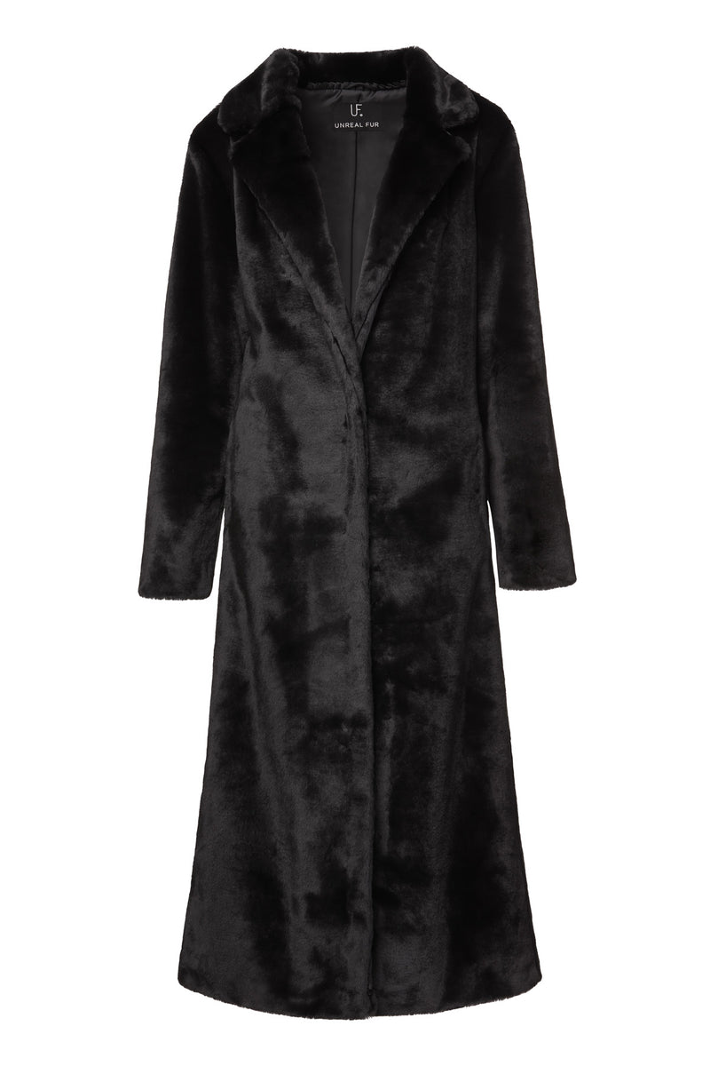 Unreal Fur Black Bird Coat
