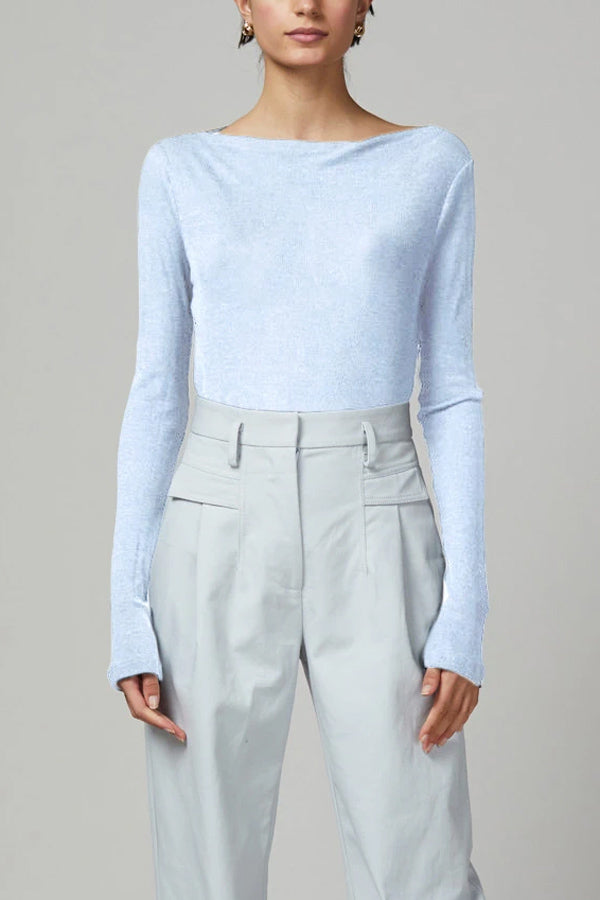 Bec and Bridge Charlotte LS Wool Knit Boat Neck Top