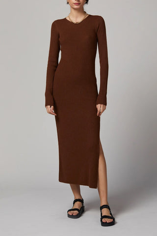 Bec and Bridge Freya LS Knit Midi Dress Copper