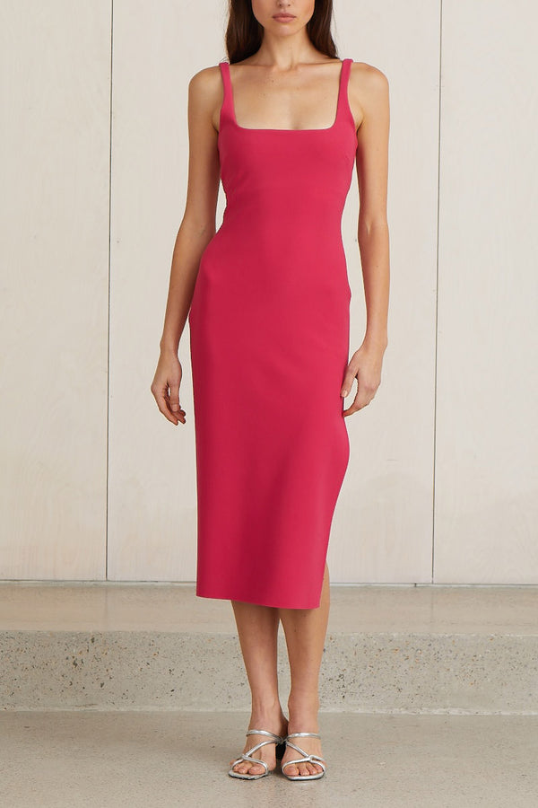 Bec and Bridge Valentine Midi Dress Hot Pink