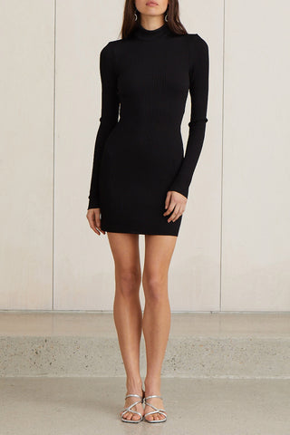 Bec and Bridge Dark Instinct Mini Dress Black