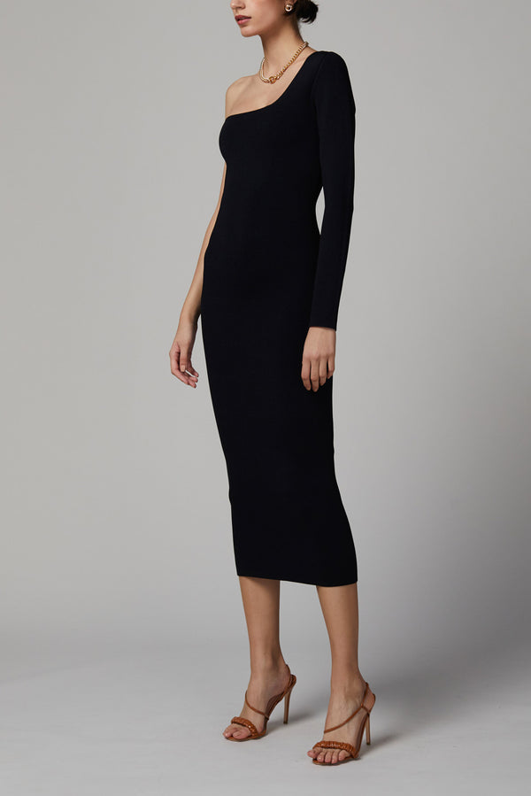 Bec and Bridge Emeline Knit Asym Midi Dress