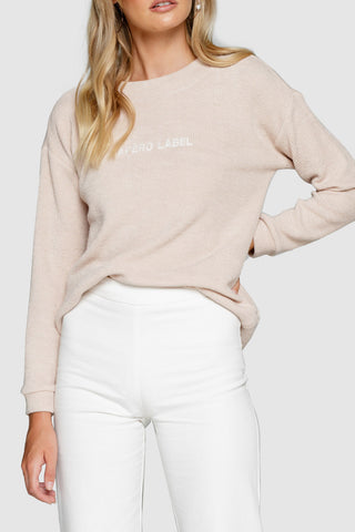 Apero The Label Embroidered Jumper Beige White