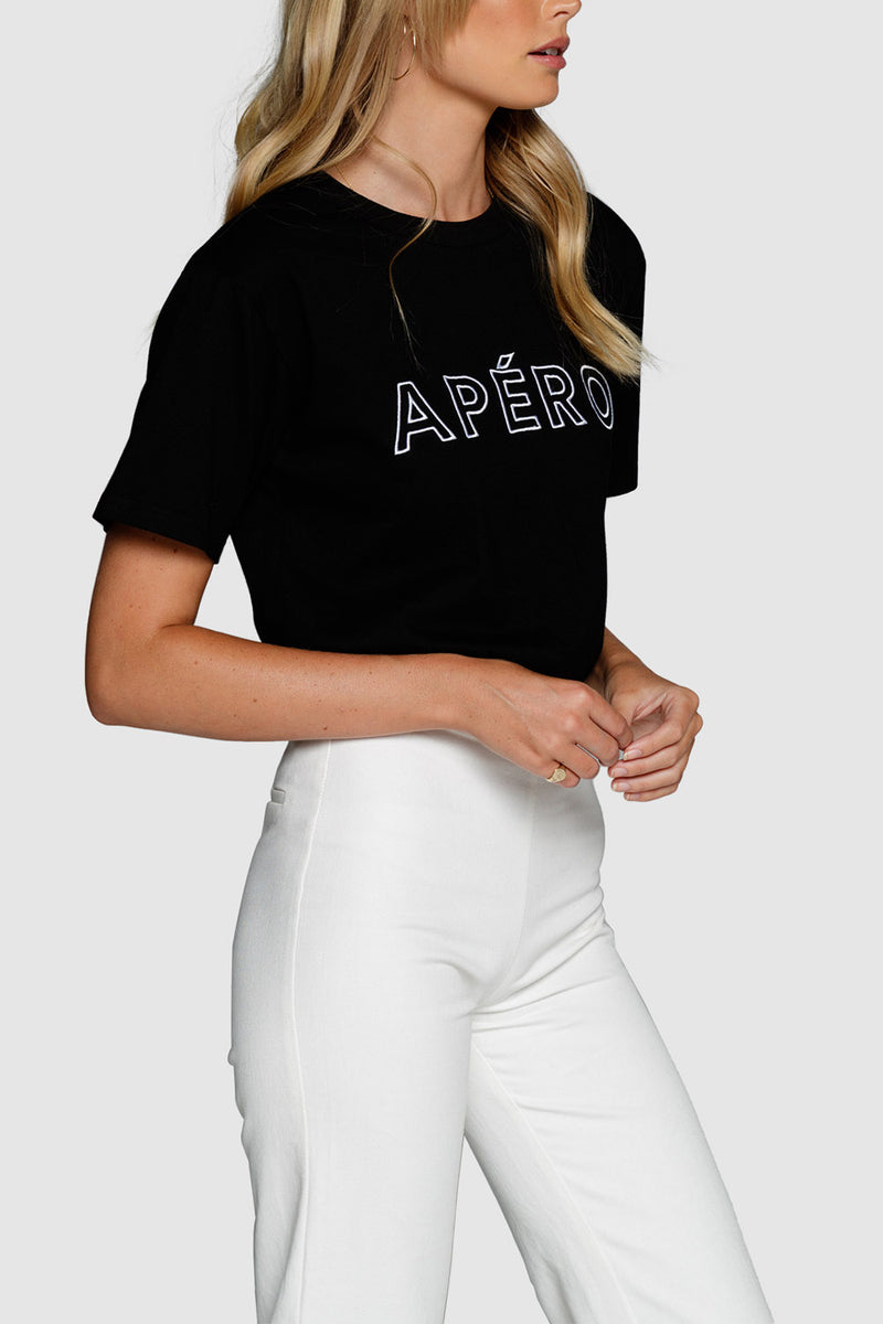 Apero Outline Embroidered Tee