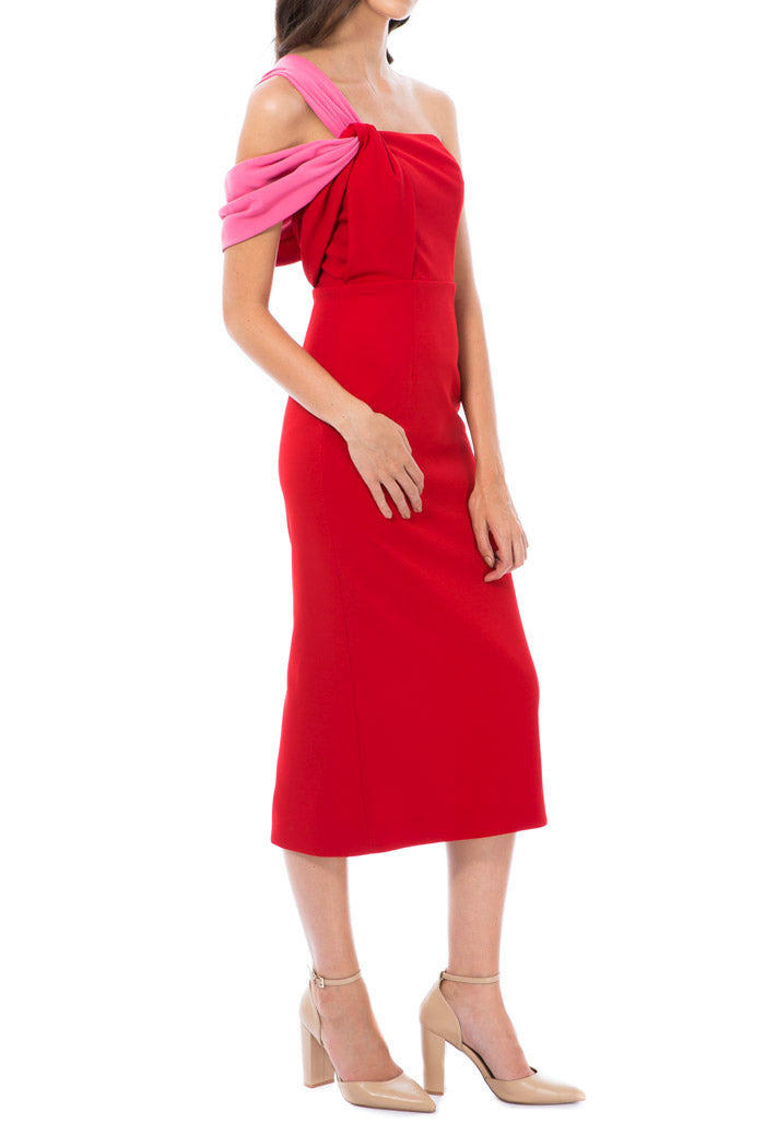 Georgy Collection Angelica Dress Red pink