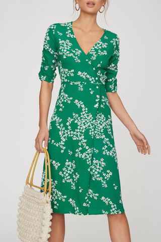 Faithfull Anne Marie Midi Dress Cap Estel Floral