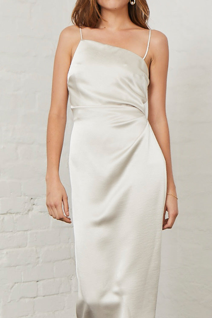 Bec and Bridge Claudia Asym Dress Champagne