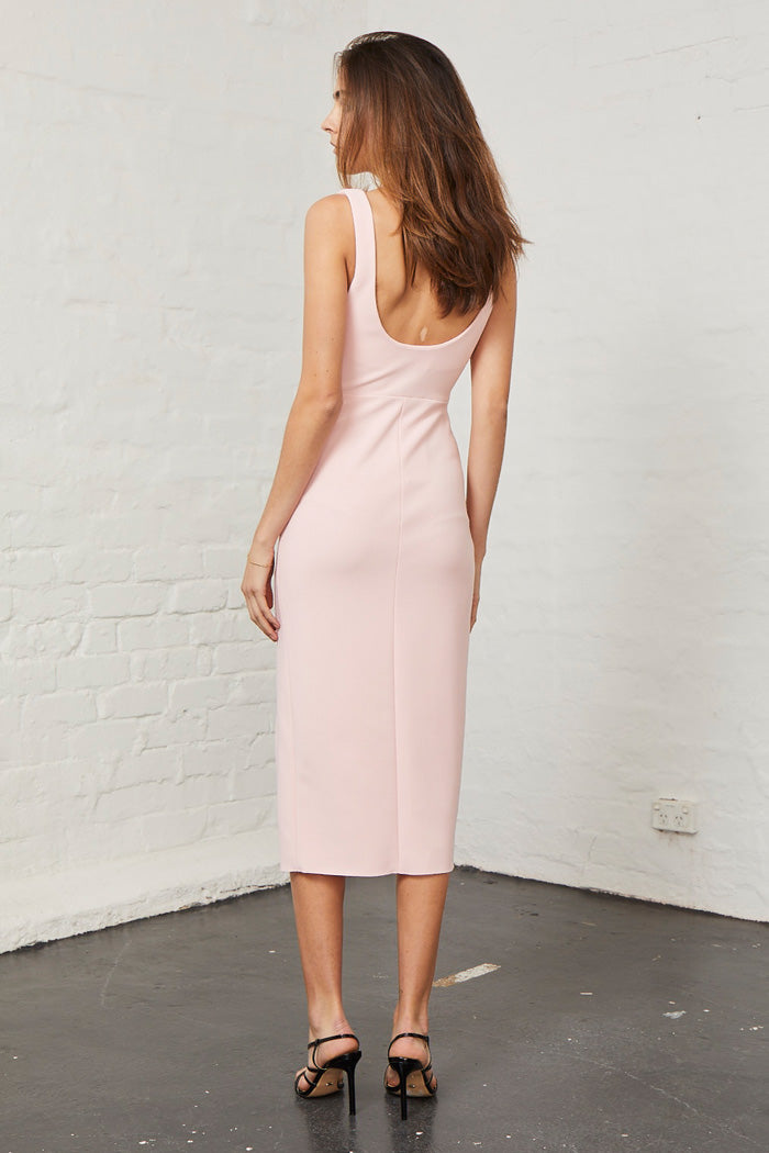 Bec and Bridge Elle Midi Dress Blush