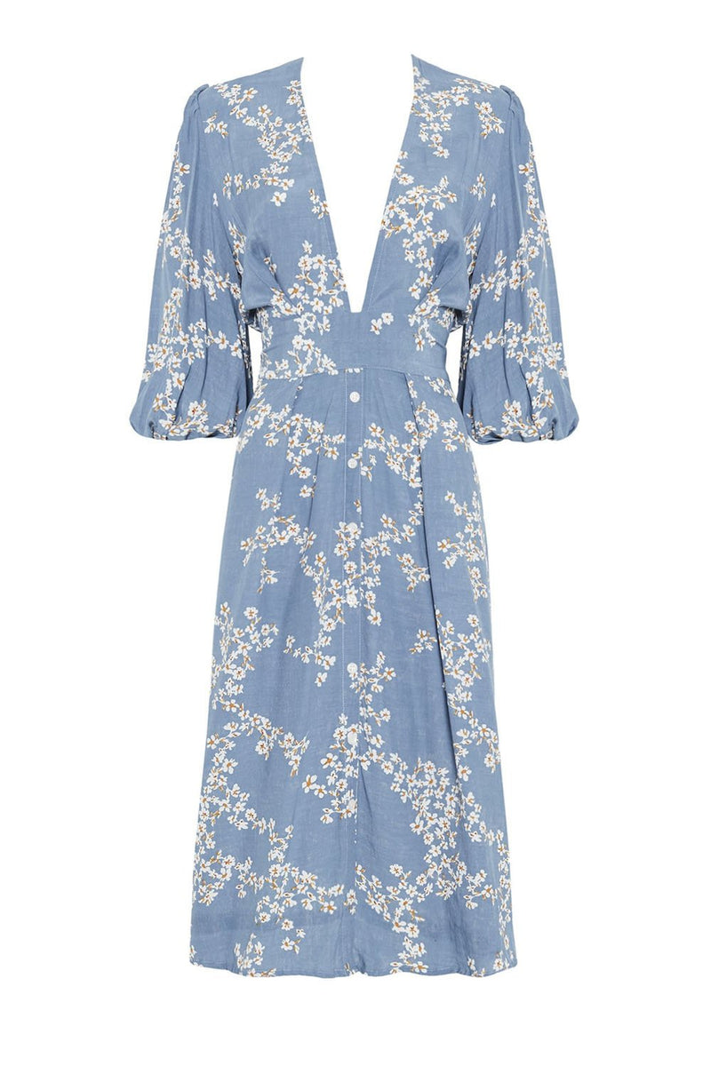 Faithfull Chloe Midi Dress Cap Estelle Floral Print