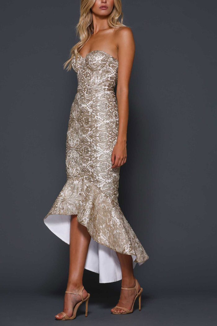 Elle Zeitoune Yasmin Gold Dress