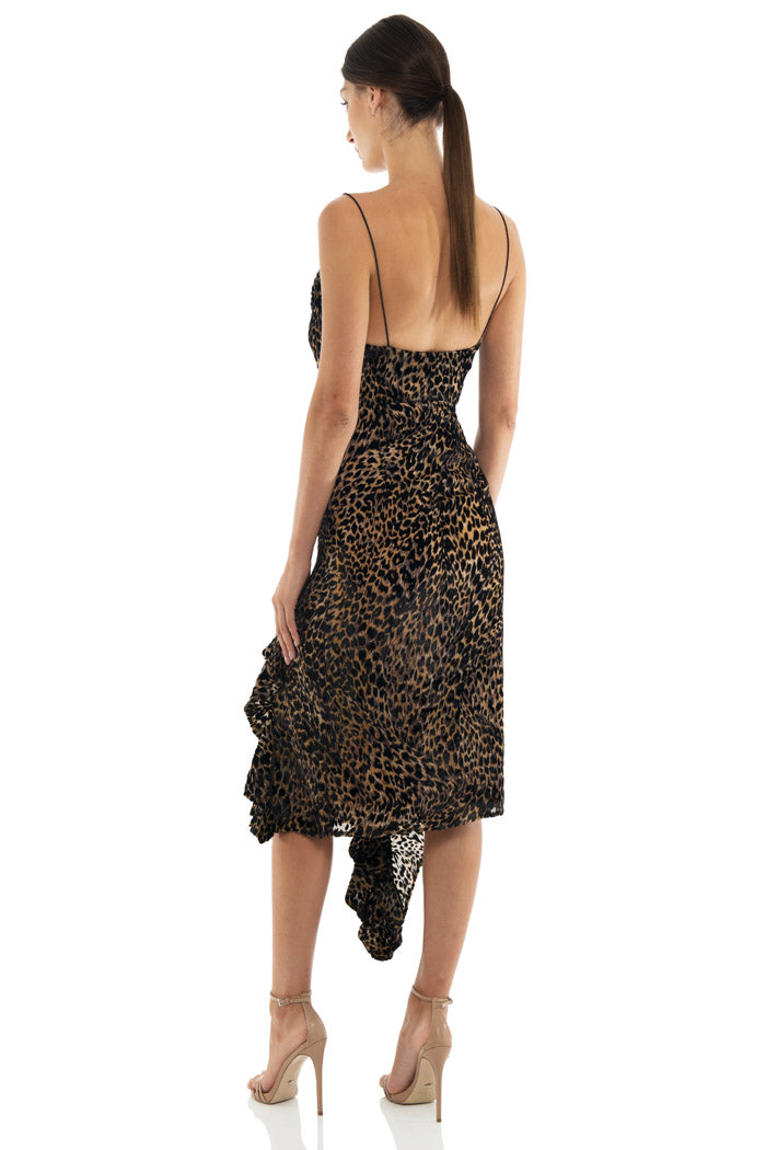 Misha Collection Emilia Leopard Slip Dress