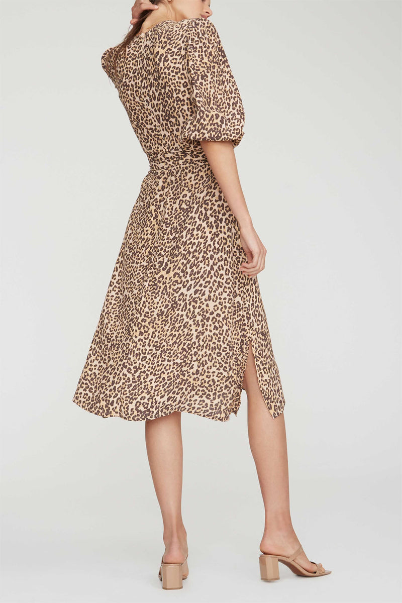 Faithfull Chloe Midi Dress Mila Animal Print