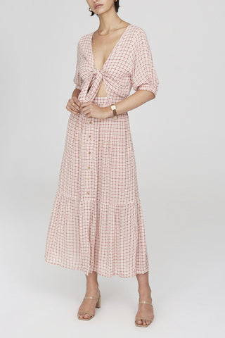 Faithfull Maple Midi Dress Emilnah Check Print