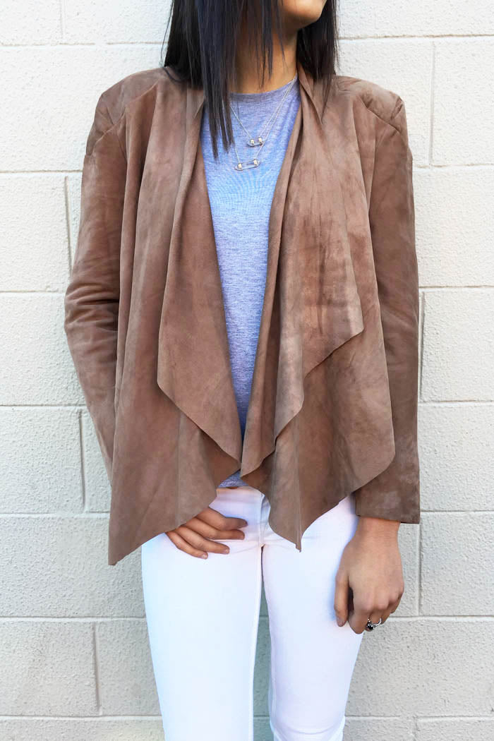 Chloe Suede Leather Jacket Mocha