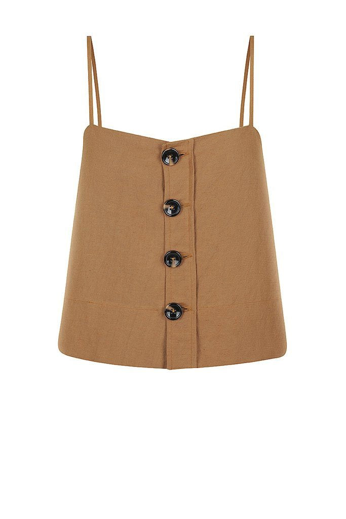 Shona Joy Gaia Button Up Cropped Camisole
