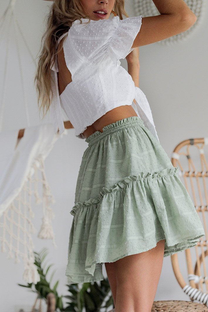 Seven Wonders Heaven Sent Mini Skirt Pistachio