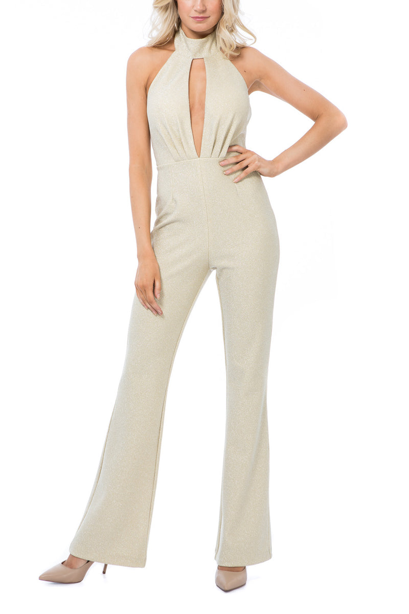 Georgy Collection Hera Pantsuit Gold