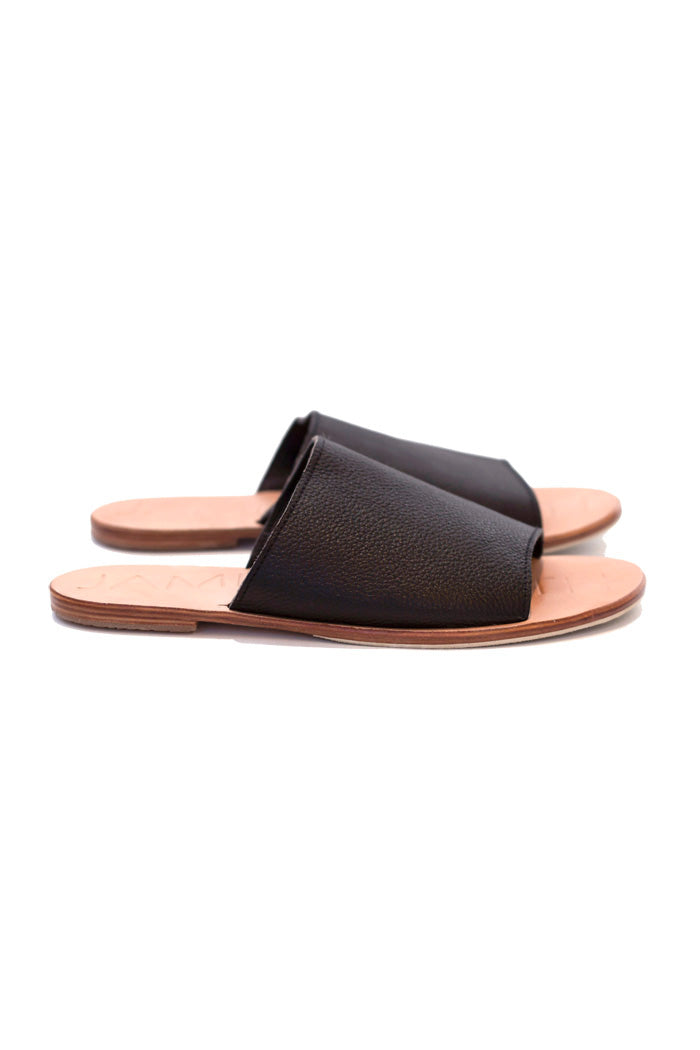 James Smith Sandals Off Duty Black Natural