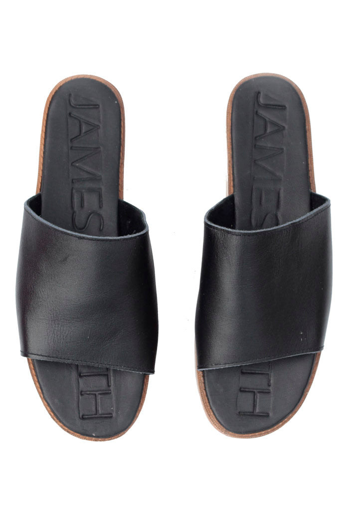 James Smith Stevie Stacked Slide Black