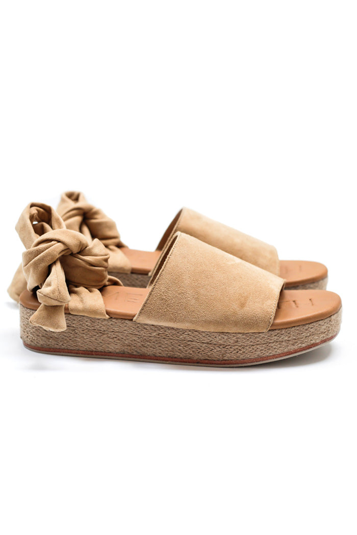 James Smith The Wrap Espadril Sand Suede
