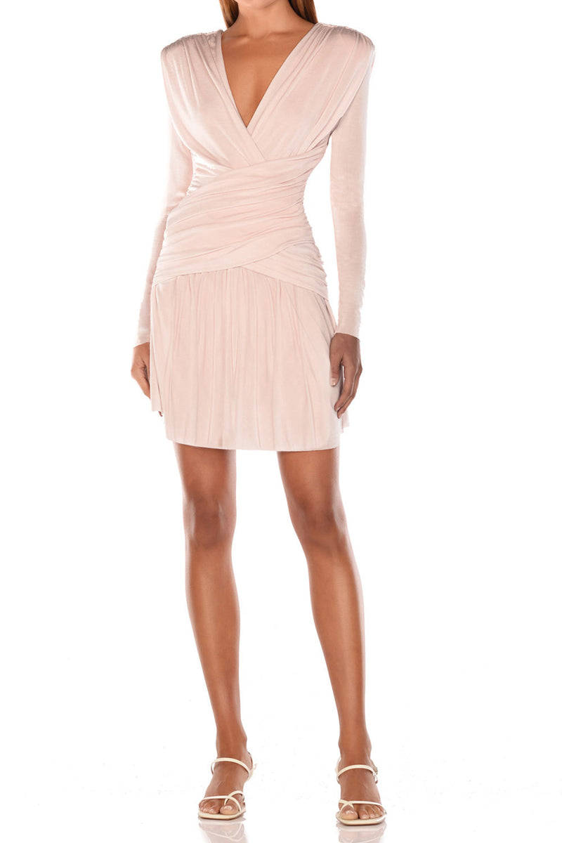Misha Collection Kahlia Mini Dress Champagne