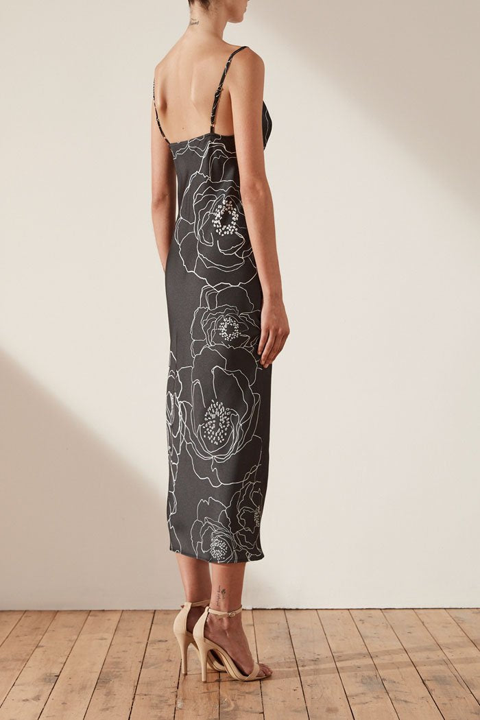 Shona Joy Lucca Bias Slip Midi Dress