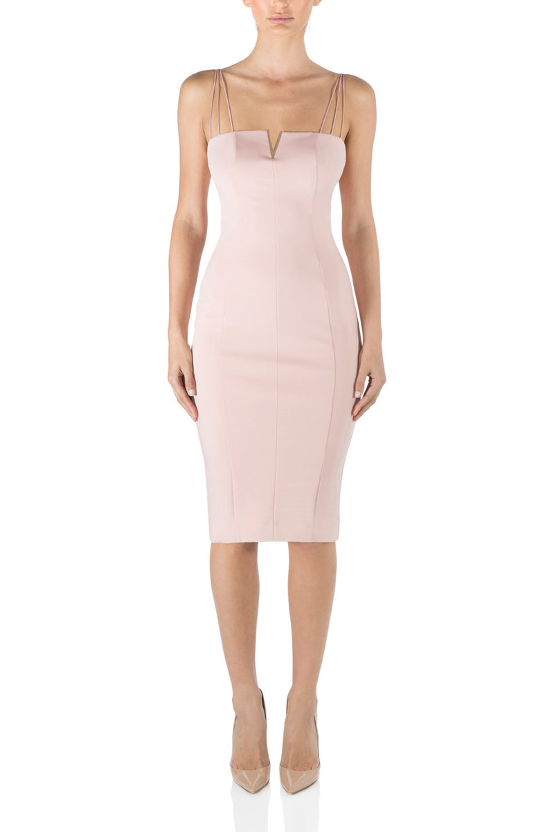 Misha Collection Dylan Midi Dress Blush