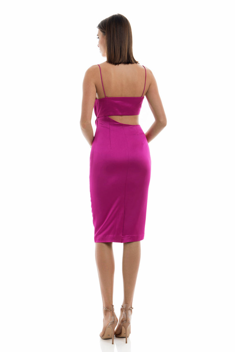 Misha Collection Selina Slip Dress Fuchsia