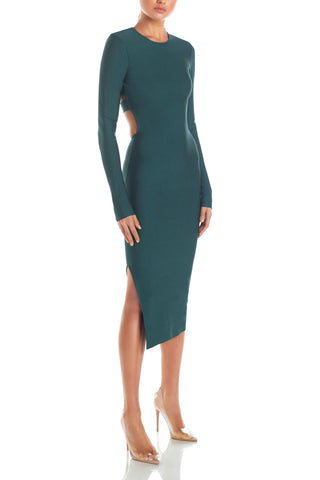 Misha Collection Stacey Bandage Midi Dress Teal