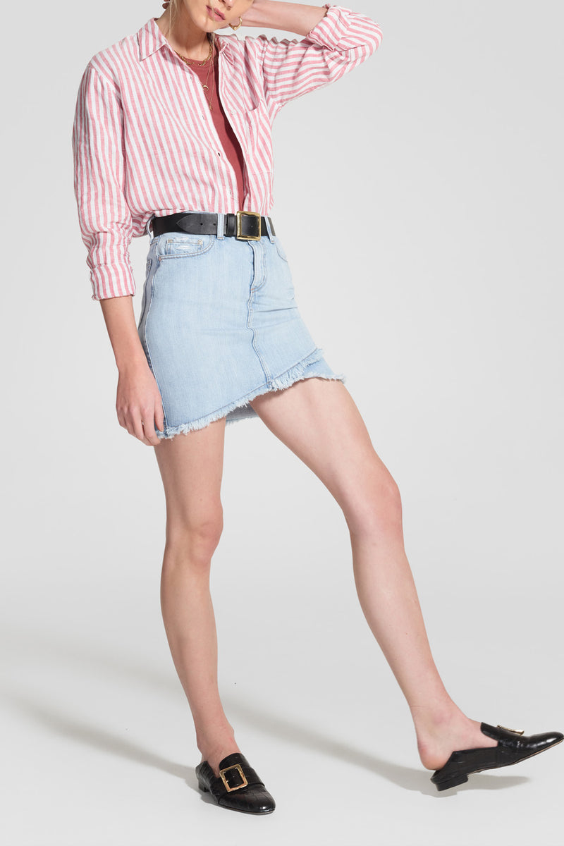 Nobody Denim Crossover Skirt Soft Wave