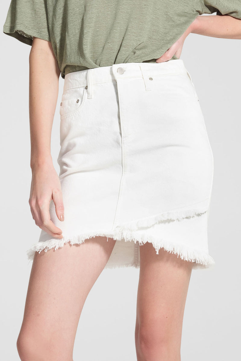 Nobody Denim Crossover Skirt Coconut