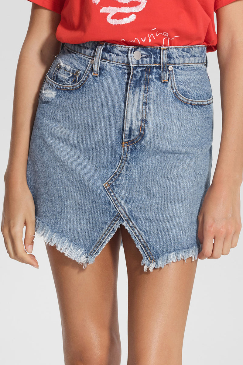Nobody Denim The Edge Skirt Cutout