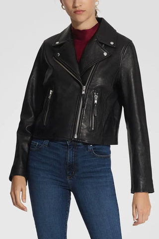 Nobody Denim Classic Leather Jacket Black