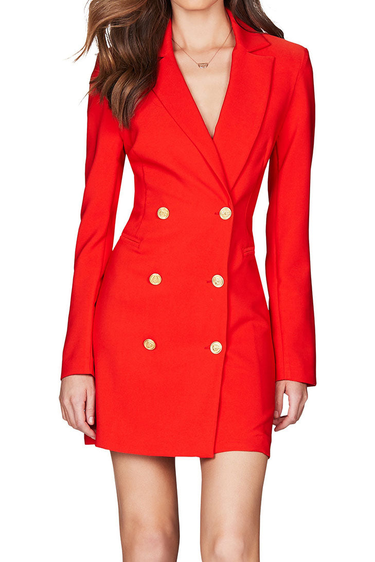 Nookie Milano Blazer Dress Orange Red