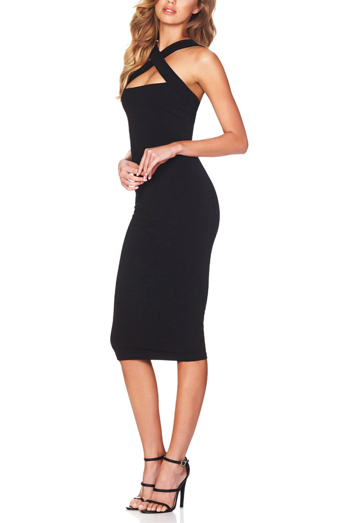 Nookie Viva Two Way Midi Dress Black