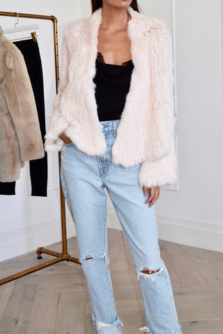 Harper Fur Jacket Blush