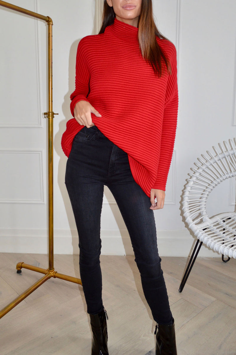 Imonni Marlin Knit Sweater Red
