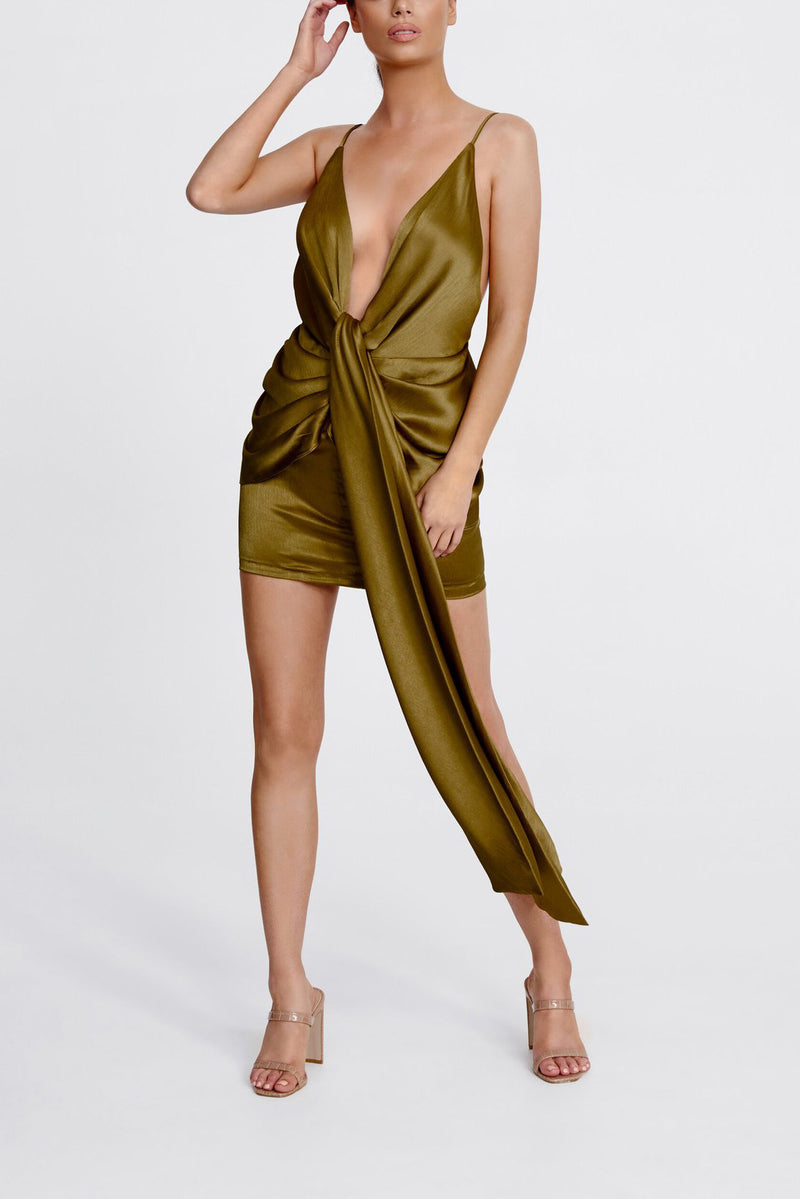 Derma Department Zara Mini Dress Olive