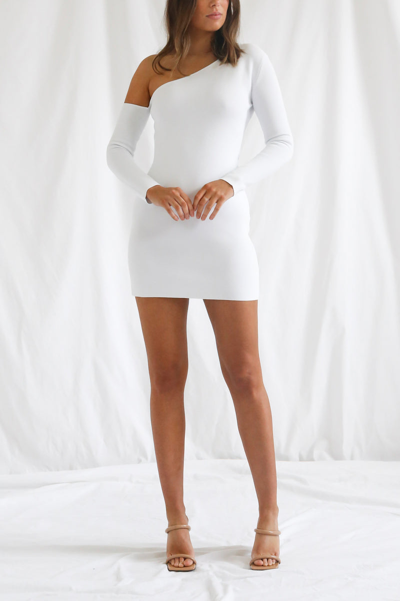 San Sloane Erika Dress White
