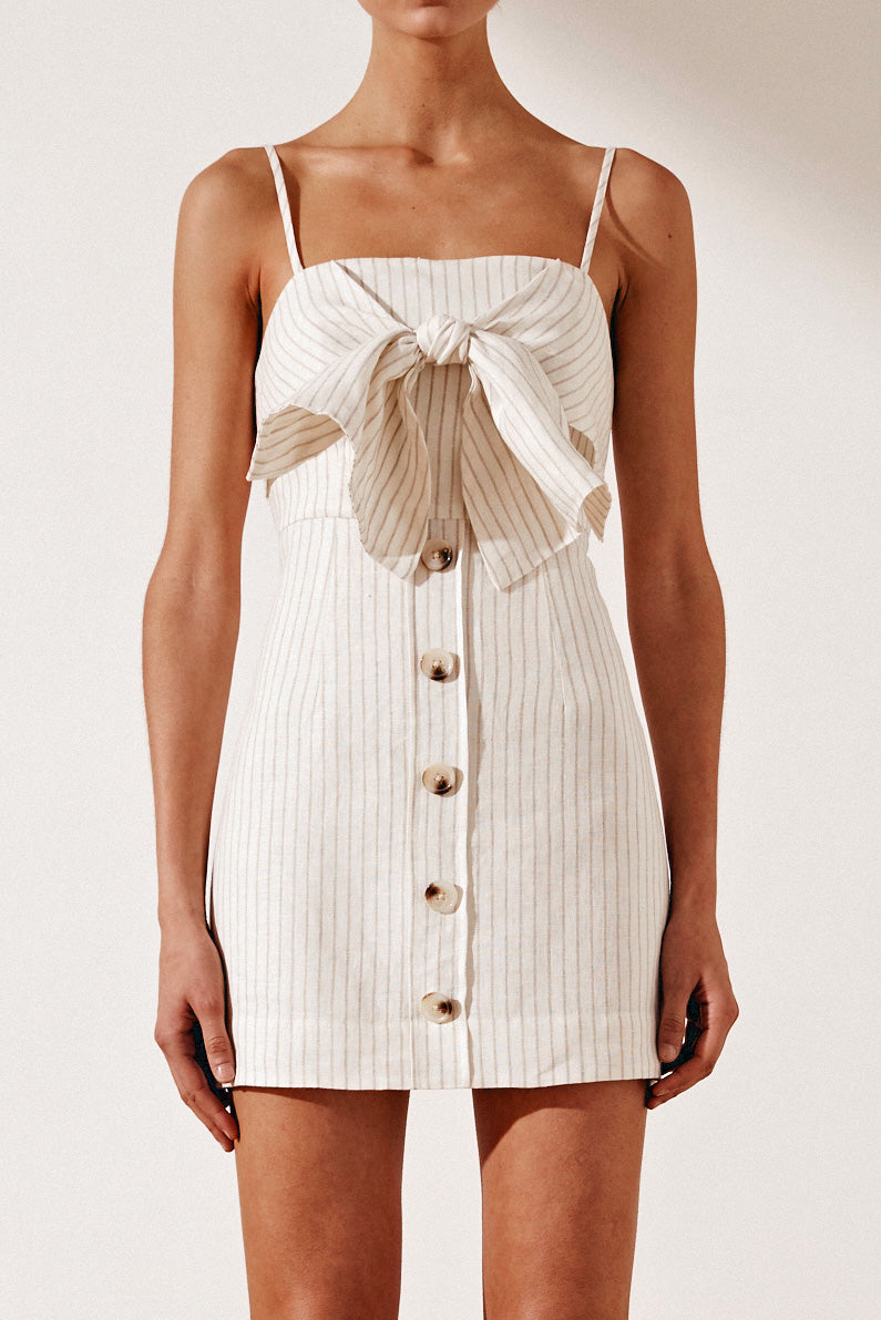 Shona Joy Isadora Tie Front Mini Dress