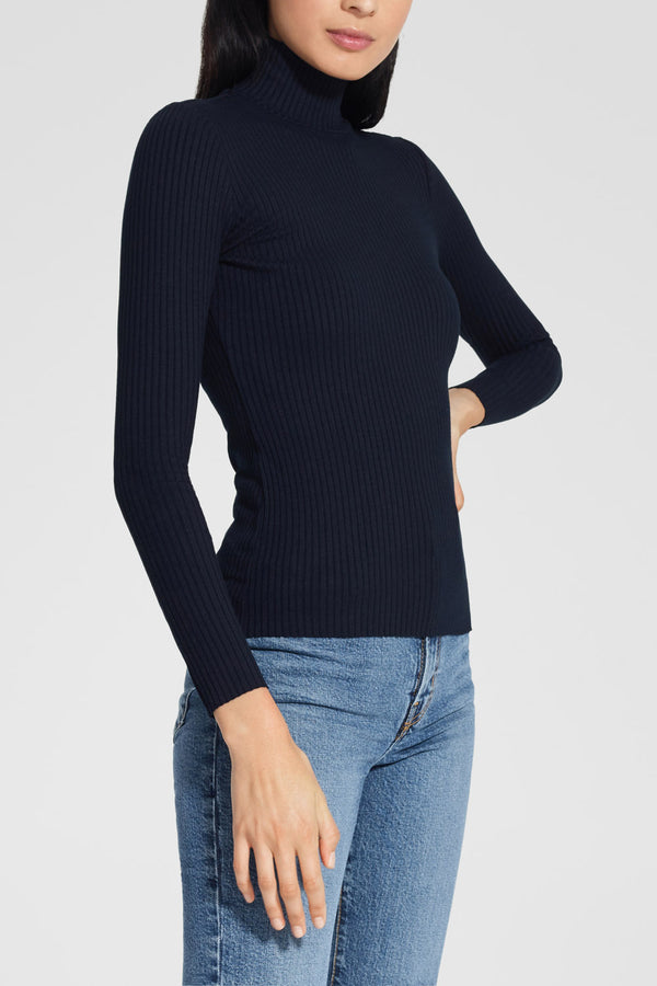 Nobody Denim Luxe Rib Long Sleeve Navy