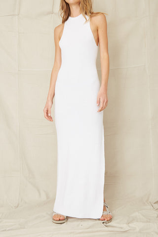 Third Form Cast Away Knit Maxi Tank Dress Off White